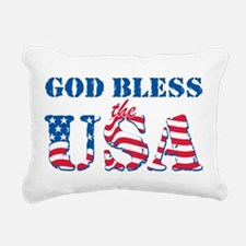 God Bless the USA Rectangular Canvas Pillow