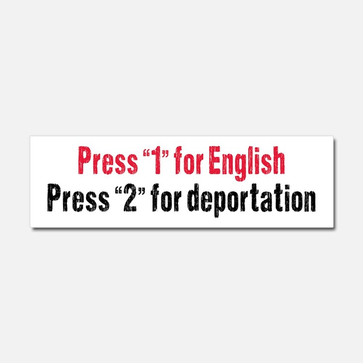 Press 1 for English Car Magnet 10 x 3