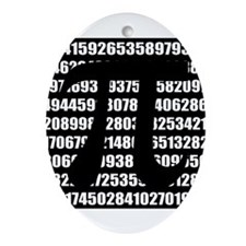 Pi number in black Ornament (Oval)