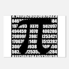 Pi number in black Postcards (Package of 8)