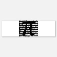 Pi number in black Bumper Bumper Bumper Sticker