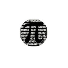 Pi number in black Mini Button