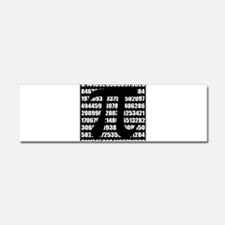 Pi number in black Car Magnet 10 x 3