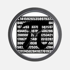 Pi number in black Wall Clock
