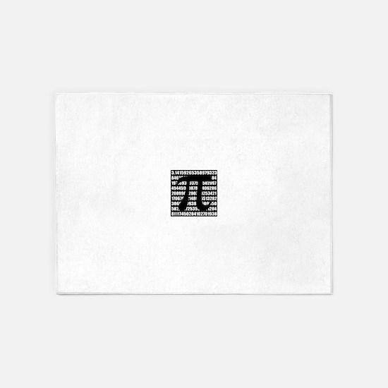 Pi number in black 5'x7'Area Rug