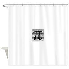 Pi number in black Shower Curtain