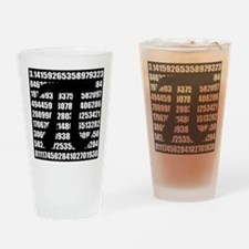 Pi number in black Drinking Glass