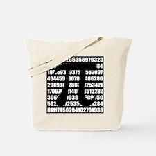 Pi number in black Tote Bag