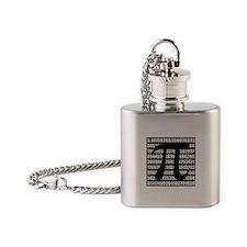 Pi number in black Flask Necklace