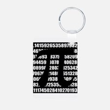 Pi number in black Keychains