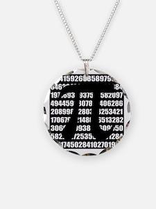 Pi number in black Necklace