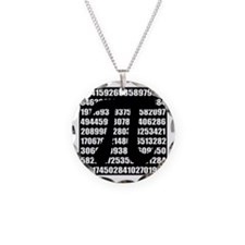 Pi number in black Necklace Circle Charm