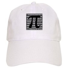 Pi number in black Baseball Cap