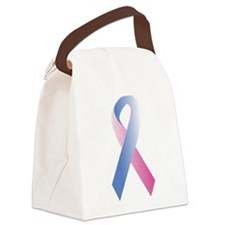 Pink Blue Awareness Canvas Lunch Bag