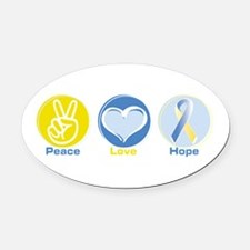 Cute Down syndrome Oval Car Magnet