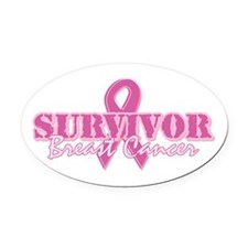 Survivor Breast Cancer Oval Car Magnet