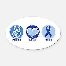 Funny Prostate cancer Oval Car Magnet