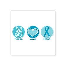 """Ovarian cancer survivor Square Sticker 3"""" x 3"""""""