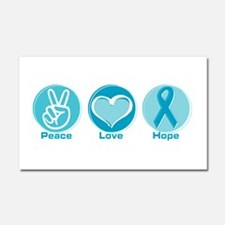 Cool Ovarian cancer Car Magnet 20 x 12