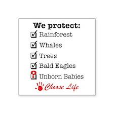 "We Protect Square Sticker 3"" x 3"""