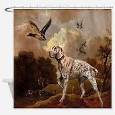 duck hunter hunting dog Shower Curtain