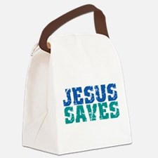 Cool Jesus saves Canvas Lunch Bag