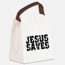 Cute Jesus saves Canvas Lunch Bag