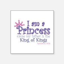 "Funny Kings Square Sticker 3"" x 3"""