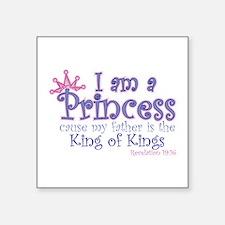 "Cute Princess Square Sticker 3"" x 3"""