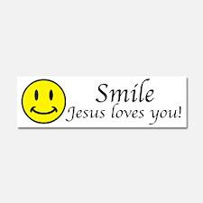 Smile Jesus Car Magnet 10 x 3