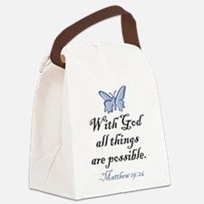 Matthew 19:26 Canvas Lunch Bag