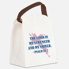 Psalm 28:7 Canvas Lunch Bag