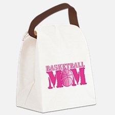 Basketball Mom Pink Canvas Lunch Bag