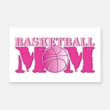 Basketball Mom Pink Rectangle Car Magnet