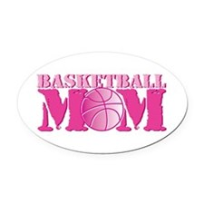 Basketball Mom Pink Oval Car Magnet