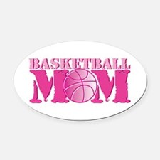 Basketball Mom Pink Oval Car Magnet