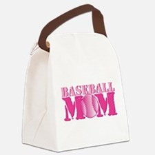 Baseball Mom pink Canvas Lunch Bag