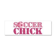 Soccer Chick Car Magnet 10 x 3