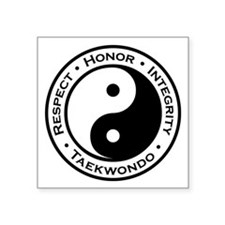 "Respect Honor Integrity Tkd Square Sticker 3"""