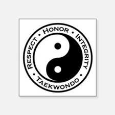 Respect Honor Integrity Tkd Square Sticker 3""