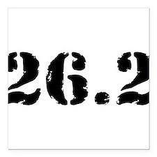 """26.2 - Marathon Square Car Magnet 3"""" x 3"""""""