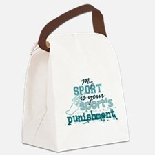 Cute My sport is your sports punishment Canvas Lunch Bag