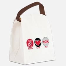 Unique Peace love run Canvas Lunch Bag