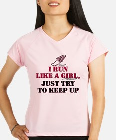 Run like a girl red Performance Dry T-Shirt