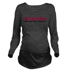 Running therapy red Long Sleeve Maternity T-Shirt