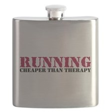 Running therapy red Flask