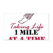 Taking Life 1 mile Rectangle Car Magnet