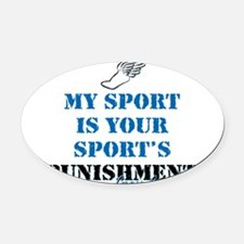 Punishment CC Oval Car Magnet