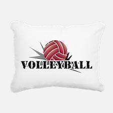 Cute Volleyball dig set hit block win! Rectangular Canvas Pillow