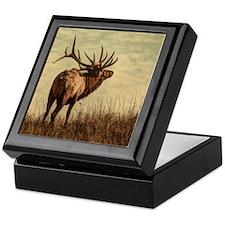 rustic western wild elk Keepsake Box